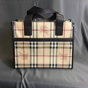 Burberry Nova Check Haymarket Small Tote